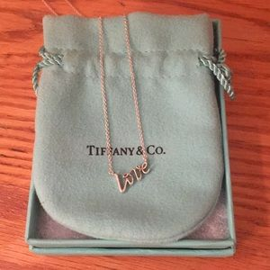 "Authentic brand new Tiffany ""love"" necklace"